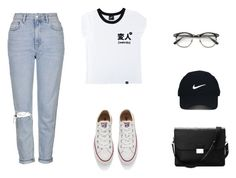 """hihi"" by dasha-efimovich on Polyvore featuring мода, Illustrated People, Topshop, Aspinal of London, Converse и Nike Golf"