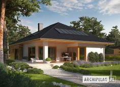 Liv 3 G1 - projekt domu - Archipelag Modern Bungalow House Design, Bungalow House Plans, Bedroom House Plans, Dream House Plans, House Floor Plans, Beautiful House Plans, Simple House Plans, House Layout Plans, House Layouts