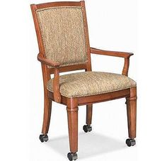 Thomasville Furniture Bridges club  chairs with casters 40421-892 set of 4
