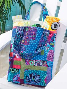 QAYG - Quilt-As-You-Go Tote Bag Pattern + Tips for Pressing Your Quilt Seams