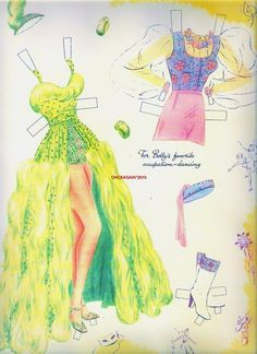 1941 Betty Grable paper doll clothes / eBay