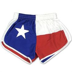 TYLER'S TEXAS FLAG RACER SHORTS - RED/WHITE/BLUE  $28 http://www.tylerstx.com/women-s-tyler-s-racer-shorts-2651.html/?sel=2459