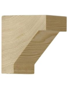 """Small Hemlock Craftsman Corbel 2 3/4"""" X 2 3/4"""" X 1 1/2"""". Wood Supports. by Oregon. $7.79. Angular cove profile corbel is the pefect accent for craftsman interiors. Small size is designed for dining room plate rail or mantels. Use singly or in pairs, for added effect. Also excellent as an exterior millwork detail. Solid hemlock is suitable for paint, stain or clear finish. This wood bracket measures 2 3/4"""" high by 2 3/4"""" deep and 1 1/2"""" in thickness."""