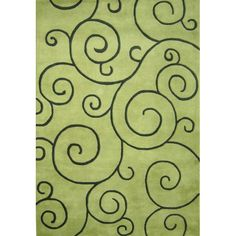 This Sarah Scrolls contemporary artisan hand-tufted wool rug will add a decorative and energetic feel to your home. Rich custom-dyed colored yarns in lime and turf hues create visually appealing scrolls that dance across this plush area rug. Plush Area Rugs, Wool Area Rugs, Green Color Schemes, Green Palette, Thing 1, Nursery Wallpaper, Hand Tufted Rugs, Geometric Rug, Throw Rugs