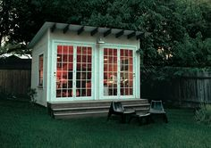 garden office. i think i could live in a garden office. it looks so cozy!