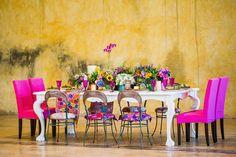 Colorful wedding reception | Elizabeth Medina Photographic Artisans | see more on: http://burnettsboards.com/2015/01/colorful-yucatan-hacienda-wedding/