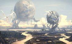 Sci Fi Landscape HD Wallpaper