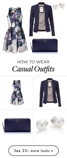 """""""casual or church"""" by thickchickjanae5 on Polyvore featuring Ally Fashion, Tommy Hilfiger, Kate Spade, Mikimoto, women's clothing, women, female, woman, misses and juniors"""