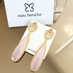 Quartzo rosa! #luxo #mairabumachar #brincoslim #pedidosporwhatsapp (11)997440079