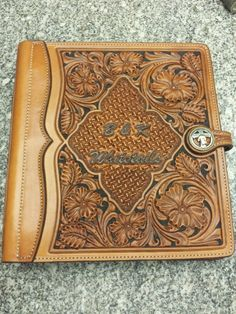 Leather Carving, Leather Art, Leather Books, Custom Leather, Leather Tooling, Tooled Leather, Leather Binder, Leather Notebook, Leather Journal
