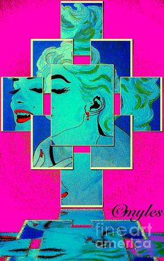 Marilyn Monroe : art by Saundra Myles