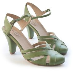 Sale 35% off! Green sandals, high heels, wedding shoes, women's shoes,... ($136) ❤ liked on Polyvore featuring shoes and sandals