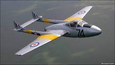 De Havilland Vampire, Post War Era, Air Force Aircraft, Battle Of Britain, Photo Competition, Night Photos, Car Drawings, New Engine, Royal Air Force