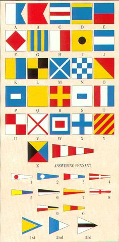sea flags! good reference to have.