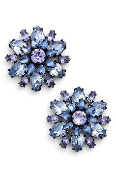 kate spade new york 'trellis blooms' stud earrings Kate Spade Earrings, Blue Earrings, Vintage Earrings, Faceted Crystal, Floral Motif, Trellis, Women's Accessories, Nordstrom, York