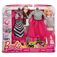 "Barbie Fashions 2-Pack - Pink Stripes - Mattel - Toys ""R"" Us"