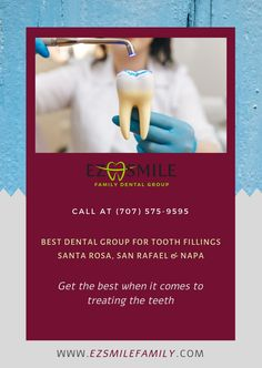 Tooth fillings in Santa Rosa, San Rafael, Napa, and San Francisco. Repair your tooth today with best dental care. Family Dental Care, Dental Group, Invisible Braces, Dental Fillings, Porcelain Veneers, Resin Uses, Cosmetic Dentistry, Dental Implants, Beautiful Smile