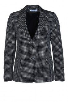 SIS by Spijkers en Spijkers LUCKY JACKET TAFT POLKA DOT (BLACK/WHITE) 392EURO  http://spijkersenspijkers.nl/shop/all-products/lucky-jacket-taft-polka-dot-black-white.html #blazer #polka #dots #twobuttoned #fashion #fashion2013 #fashion2014 #style #mode #inspiration #christmasgift #christmas #gift