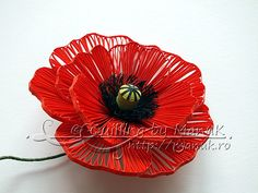 *QUILLING ~ Quilled Poppy