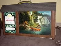 "I always loved these Hamms ""motion signs""  The water shimmers, and the waterfall looks like it is moving."