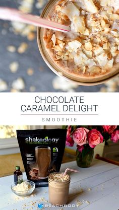 Craving something sweet and chocolatey, but trying to stick to a healthy eating plan? Whip up this Chocolate Shakeology recipe! Made with caramel extract and toasted coconut, it tastes just like a Girl Scout Cookie while still being 100% healthy. // Beachbody // BeachbodyBlog.com