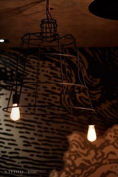 Studio A Signature Projects/ Johannesburg, South Africa. Restaurant Design, Restaurant Bar, Track Lighting, South Africa, Ceiling Lights, Studio, Projects, Home Decor, Log Projects