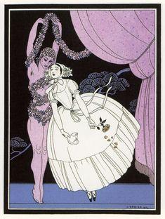 Master Art Deco Artist George Barbier: Ballets Russes ballerina Tamar karsavina
