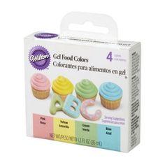 wilton gel colour 4pc set - Colorant Wilton Gel