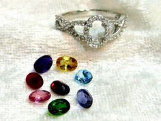 Blue Topaz Ring, Sapphire Ring, Amethyst Ring, Citrine Ring, Diopside Ring, Pink Topaz Ring, CZ Halo Ring, 925 Solid Sterling Silver Size 7 by JewelrybyPatterson on Etsy https://www.etsy.com/uk/listing/474174182/blue-topaz-ring-sapphire-ring-amethyst