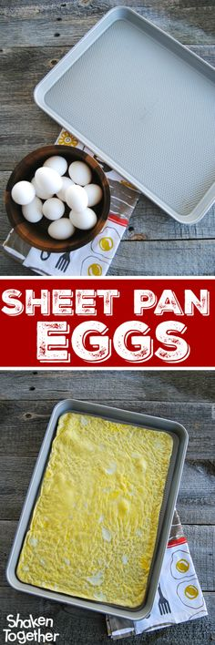 Cooking an entire dozen of eggs just got so easy thanks to Sheet Pan Eggs!