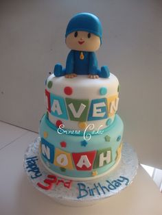Pocoyo Cake Topper Tutorial