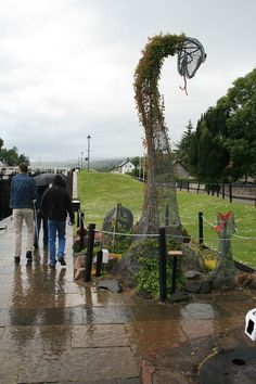 Nessie at the Caledonian Canal in Fort Augustus