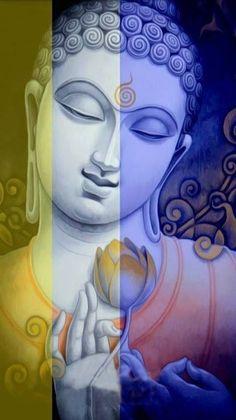 Buddha n flower Budha Painting, Mural Painting, Mural Art, Pintura Zen, Lord Buddha Wallpapers, Buddha Artwork, Buddha Drawing, Indian Art Paintings, Spiritism
