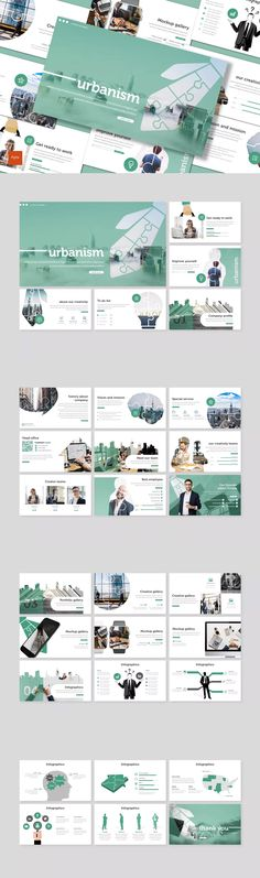 Urbanism - Powerpoint Template by inspirasign on Envato Elements Powerpoint Design Templates, Presentation Design Template, Creative Powerpoint, Presentation Slides, Keynote Template, Web Design, Slide Design, Graphic Design, Brochure Design