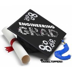 Engineering Grad Cap Tassel Topper