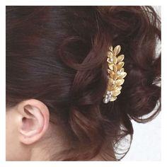 peigne cheveux mariage - accessoire coiffure mariage - bijoux de cheveux feuilles