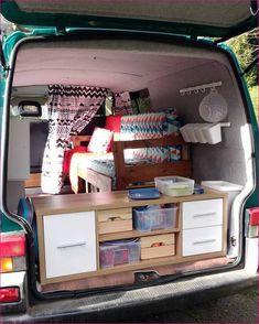80 Cool Camper Storage Hacks for RV Living Ideas - decorapartment Minivan Camping, Truck Camping, Van Storage, Camping Storage, Storage Hacks, Car Camper, Mini Camper, Camper Life, Cool Campers