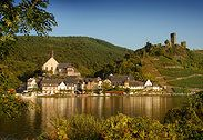 Hotel Haus Lipmann, in Beilstein, Germany, set right along the Mosel River.