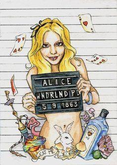 Alice in wonderland.. mugshot.. disney
