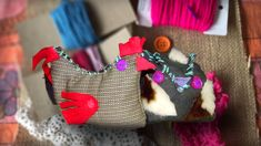 Doll Videos, Old Sweater, Weaving Textiles, Pattern Cutting, Simple Shapes, Color Theory, Hens, Art Education