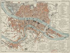 Map of Lyon 1888 #map #lyon #france