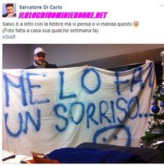 Salvatore di Carlo requisisce lo striscione di Teresa Cilia e scrive su Facebook