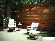 Modern fencing. Horizontal boards. #fencing #modern
