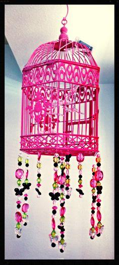 Girls room chandelier butterflies