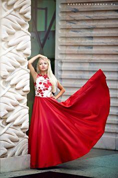 Sukienka Red one długa meLove