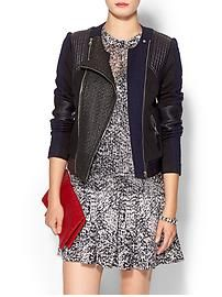 Rebecca Taylor Combo Moto Jacket w/ Leather