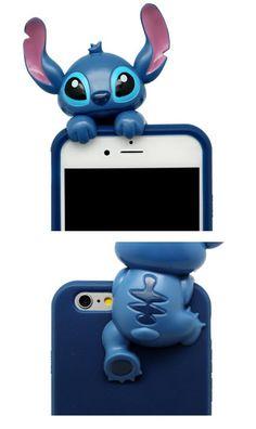 Disney Stitch Cartoon Hart Silikon Handyhülle für iphone 6 und iphone 6 plus - elespiel.com