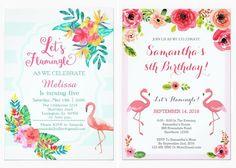 18 convites com flamingo para a festa de 15 anos - Constance Zahn | 15 anos