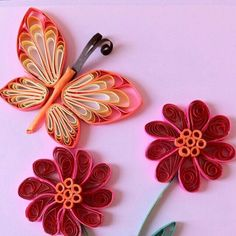 Flowers n butterfly quilling