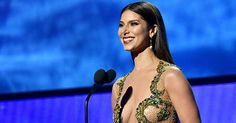 Roselyn Sanchez quits as co-host of Trump's Miss USA pageant, due to Trump's insulting racist remarks.